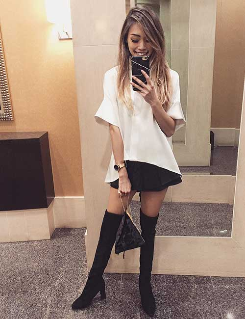 Style Knee High Boots - With An Evening Outfit