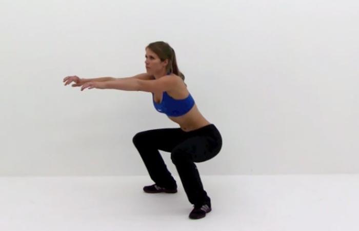Übungen am inneren Oberschenkel - Explosive Kniebeugen