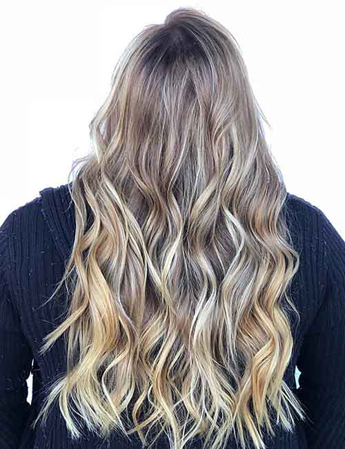 Blonde Balayage - Icy Blonde Balayage With Babylights