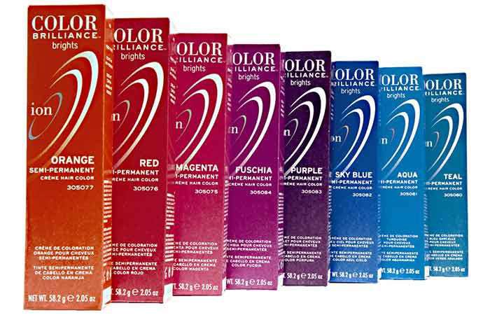 Semi Permanent Hair Color - Ion Color Brilliance Semi-Permanent Brights Hair Color