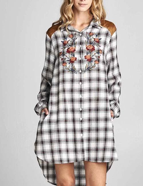 How To Wear A Flannel - Plaid Shirt Dress