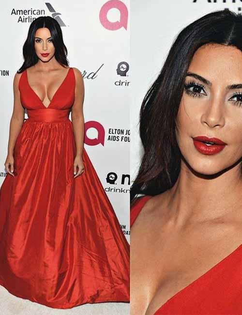 Kim Kardashian Looks - The Red Dress