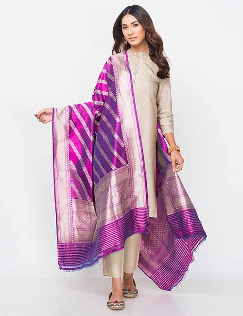 Dupatta - Banarasi Silk Dupatta