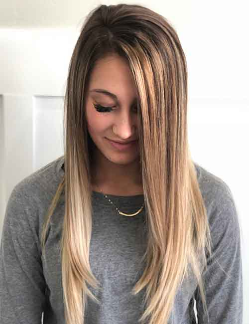 Blonde Balayage - Brown To Blonde Balayage