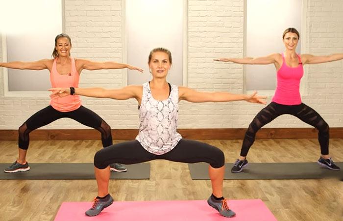Übungen für den inneren Oberschenkel - Plie Squat