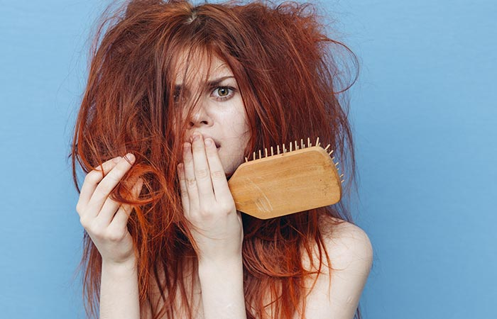 4. Using A Dirty Brush On Your Hair
