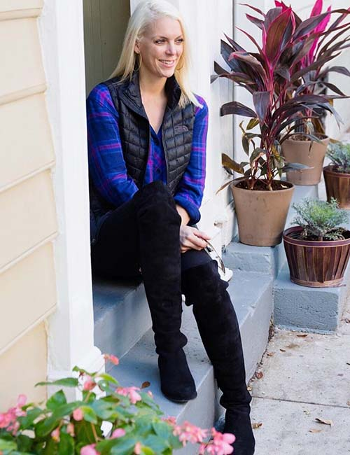 How To Wear A Flannel - With Knee-High Boots
