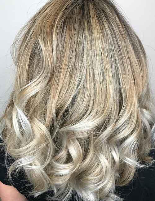 Blonde Balayage - Platinum Blonde Balayage