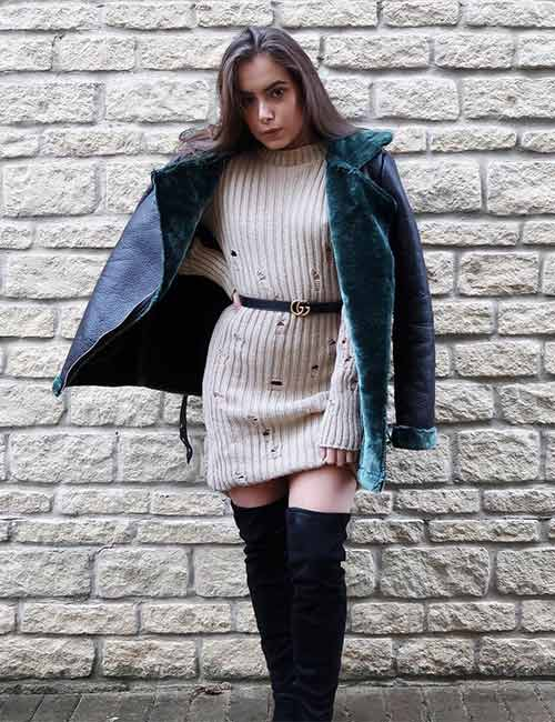 Style Knee High Boots - With A Sweater Dress