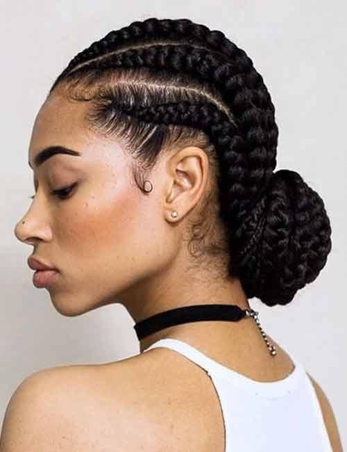 Ghana Braids - Ghana Braids Low Bun