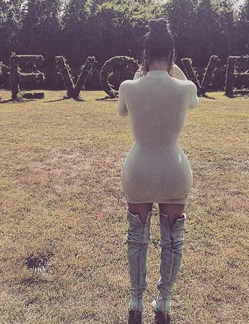 Kim Kardashian Looks - The Sweater Dress