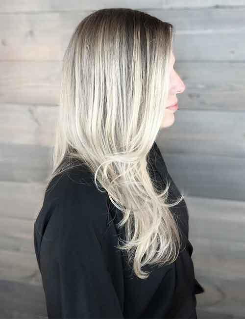 Blonde Balayage - All Over Platinum Blonde Balayage