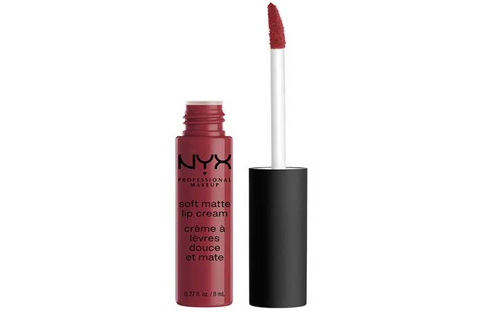 7. NYX Soft Matte Lip Cream Budapest Review
