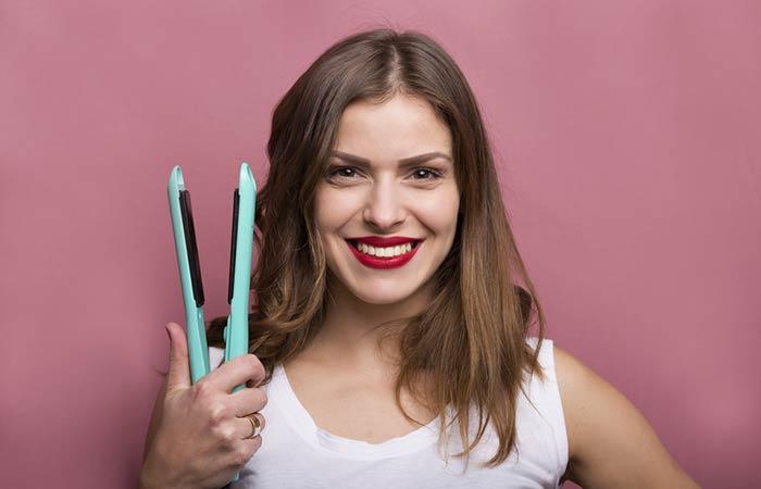 7. Hair Straightener Dublando como um ferro quente!