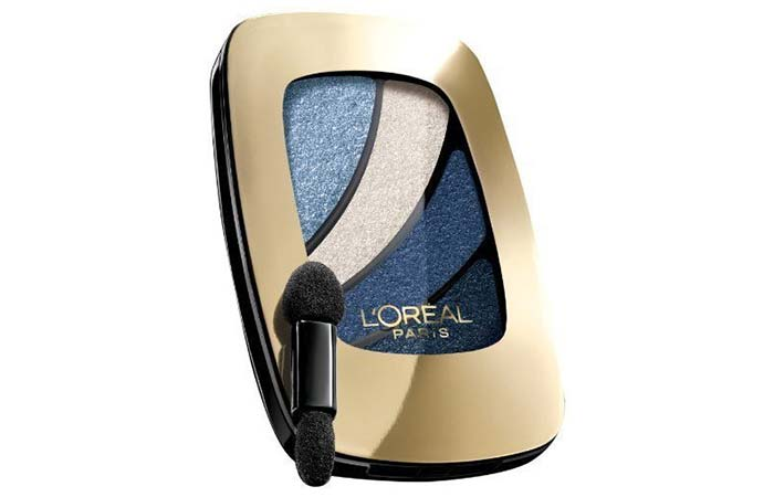 Top Glitter Eyeshadows - 8. L'Oreal Paris Color Riche Eyeshadow Quad In Skinny Jeans