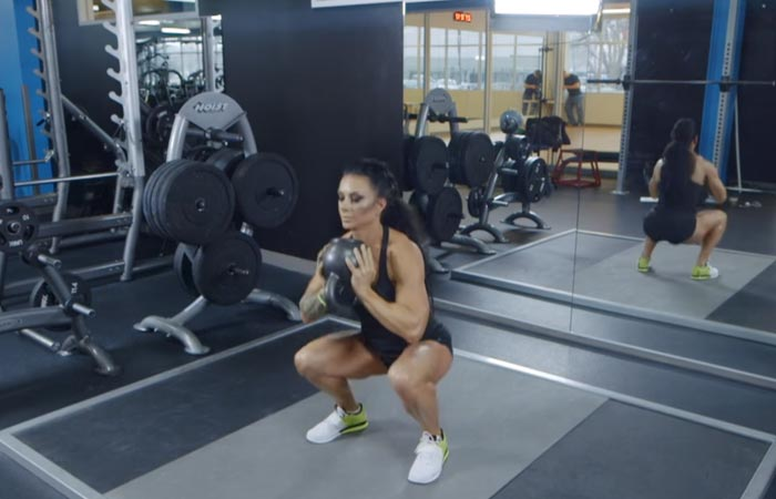 Inner Thigh Exercises - Sumo Squat With Kettlebell