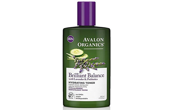 9. Avalon Organics Brilliant Balance Hydrating Toner