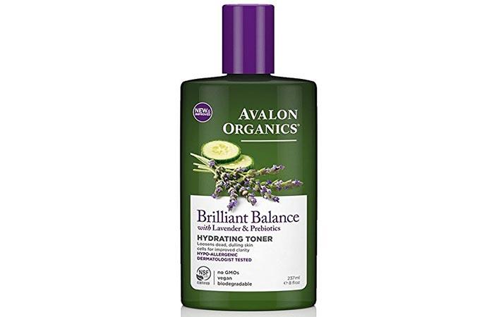 9. Avalon Organics Brilliant Balance Hydrating Toner