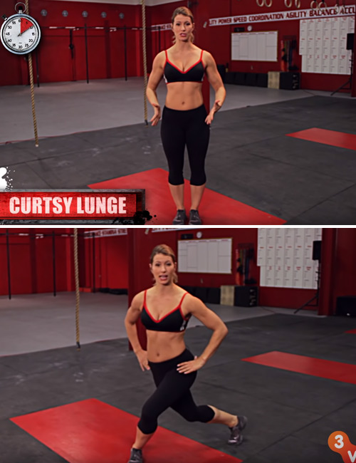 Curtsey Lunge