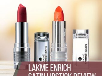 Lakme Enrich Satin Lipstick Review