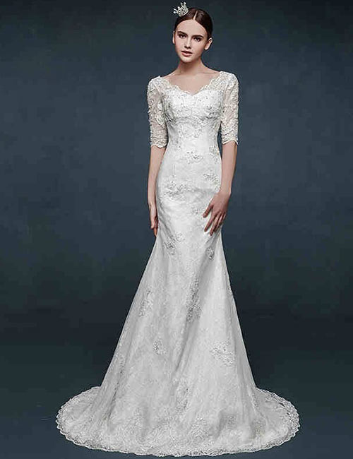 Vintage Wedding Dresses - Classic Mermaid Style Vintage Dress
