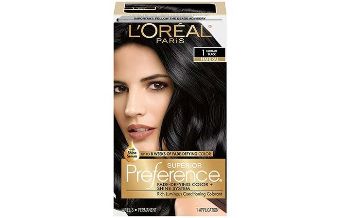 Black Hair Dyes - L'oreal Paris Superior Preference Hair Color – Ultimate Black