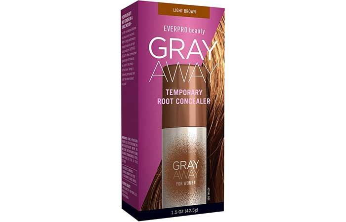 Hair Root Touch Up - Ever Pro Gray Away Root Concealer