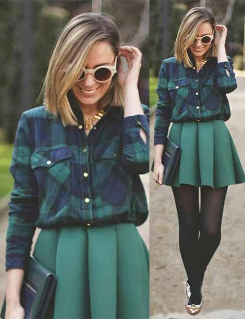 Skater Skirts - Green Skater Skirt