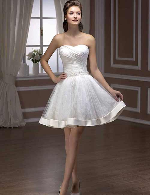 11. Knee Length Wedding Dress