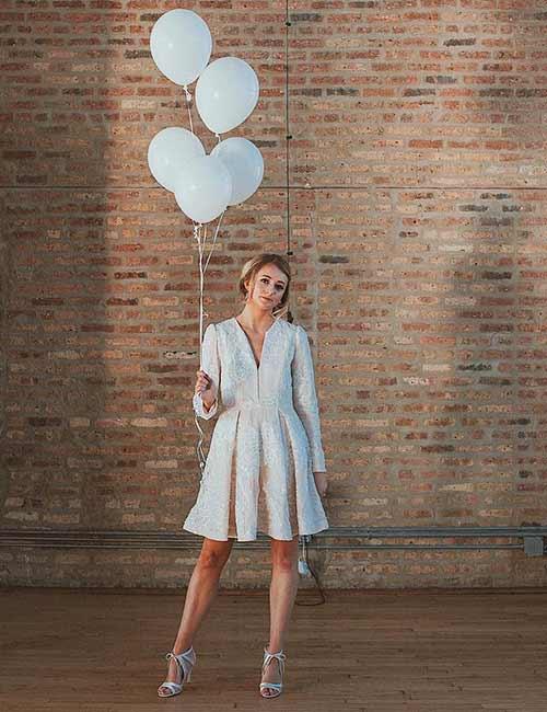 15. Jacket Style Off-White Dress
