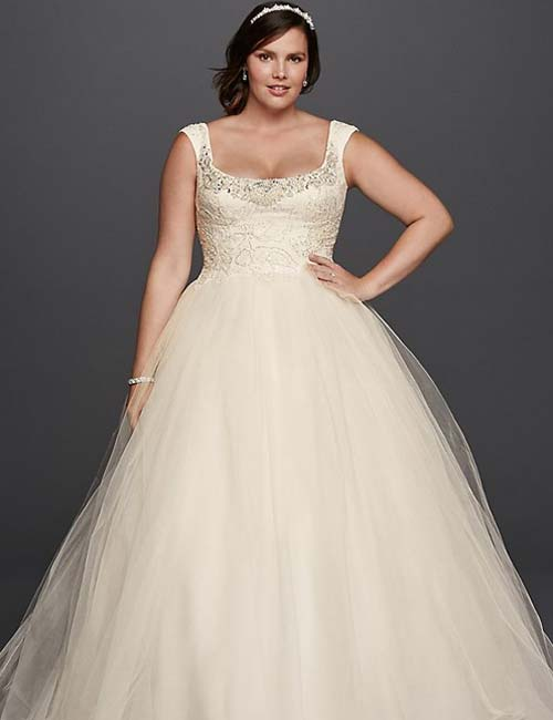 e8e649b32c2 Plus Size Wedding Dresses - Princess Style Wedding Dress In Ivory