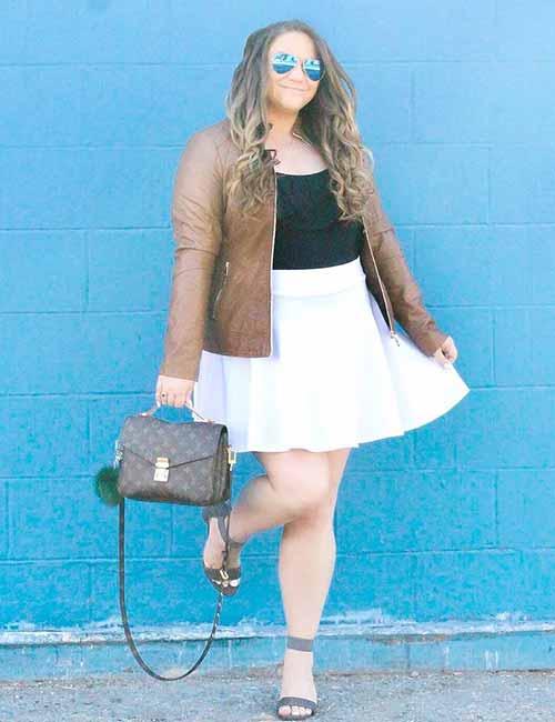 Skater Skirts - White Skater Skirt