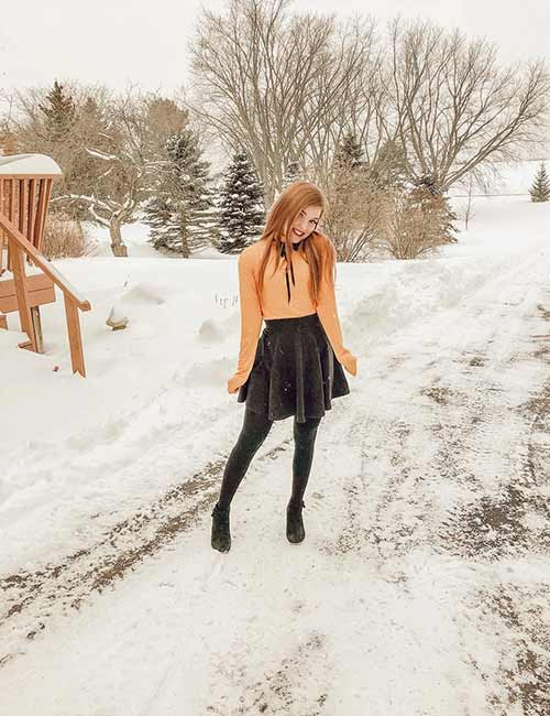Skater Skirts - Jute Skater Skirts For Winter