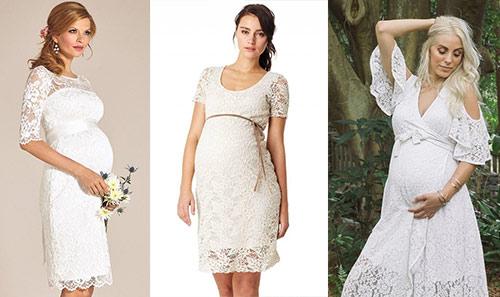 18. Short Maternity Wedding Dresses