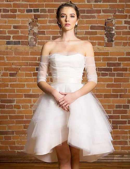 18. Short Wedding Dress In Tulle