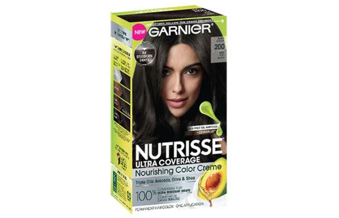 Black Hair Dyes - Garnier Nutrisse Ultra Coverage Nourishing Color Creme – 200 Black Sesame