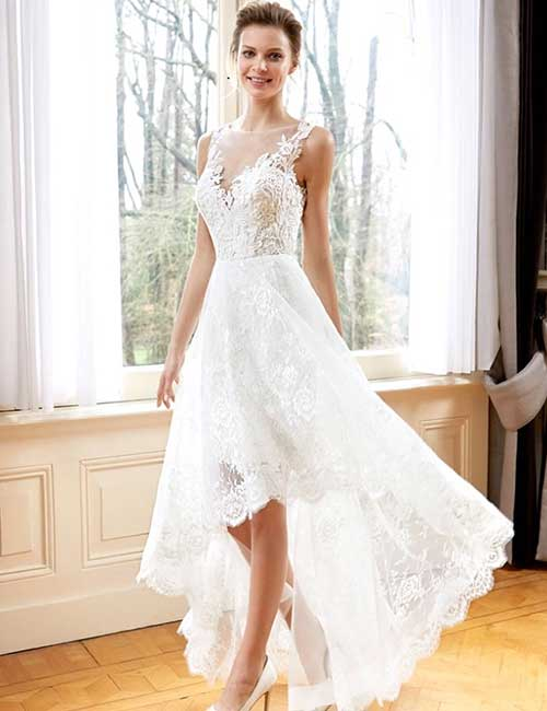 Asymmetrical Wedding Dresses 2018