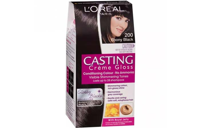 L'Oreal Paris Casting Creme Gloss Hair Color - 200 Ebony Black