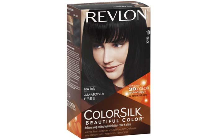 Black Hair Dyes - Revlon ColorSilk Beautiful Color – 10 Black