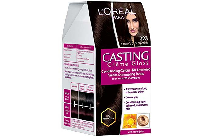 L'Oreal Paris Casting Creme Gloss Hair Color - 323 Sonam's Dark Chocolate