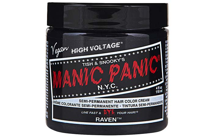 Black Hair Dyes - Manic Panic High Voltage Classic Cream Formula Hair Color – Raven