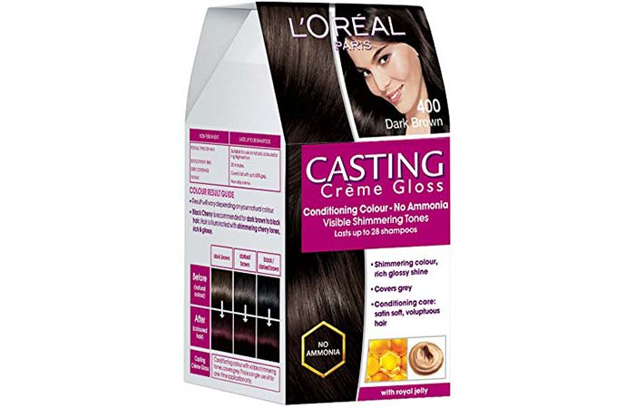 L'Oreal Paris Casting Creme Gloss Hair Color - 400 Dark Brown