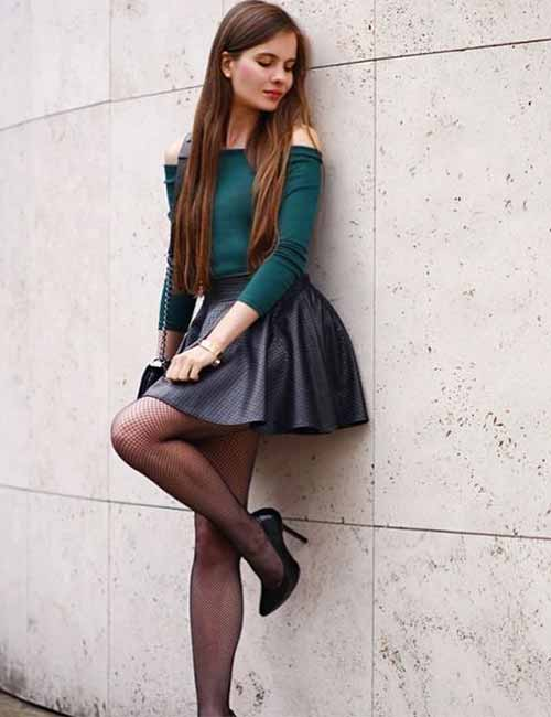 Skater Skirts - Leather Skater Skirt