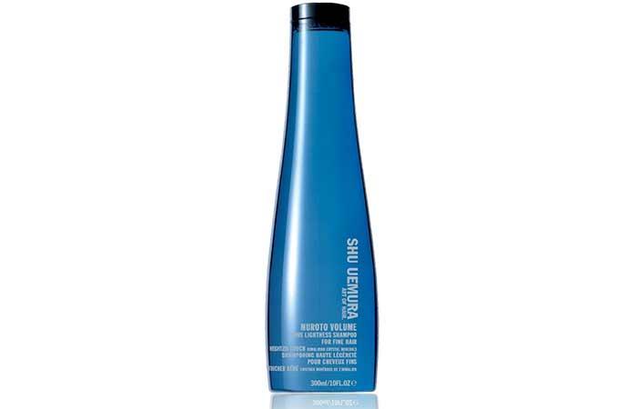 Best Hair Products For Fine Hair - Shu Uemura Muroto Volume Pure Lightness Shampoo