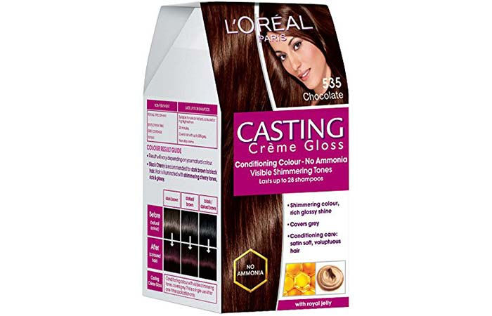 L'Oreal Paris Casting Creme Gloss Hair Color - 535 Chocolate