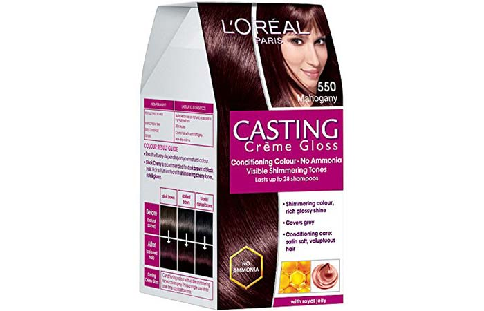 L Oreal Paris Casting Creme Gloss Hair Color 550 Mahogany Pinit