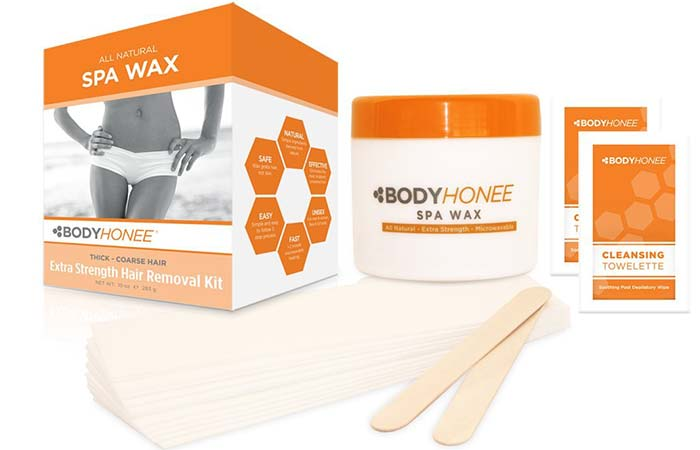 Waxing Kits - BodyHonee Extra Strength Hair Removal Waxing Kit