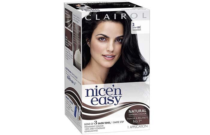 Black Hair Dyes - Clairol Nice'n Easy – Shade 2122, Natural Black
