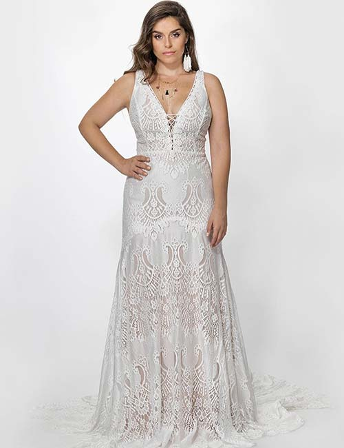 Boho Wedding Dress Plus Size