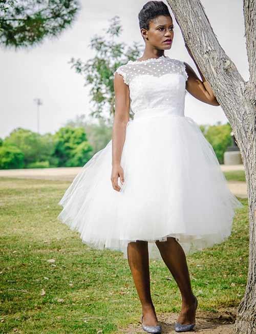 8. Short Wedding Dress In Tulle